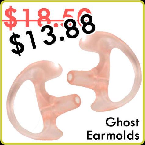 Earphone Connection Ghost Earmolds