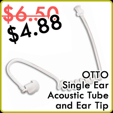 Otto Acoustic Tube with Ear Tip