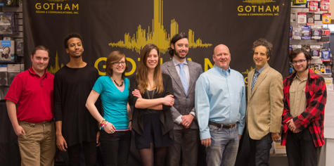 Gotham Sound NY Sales Team Dec 2014